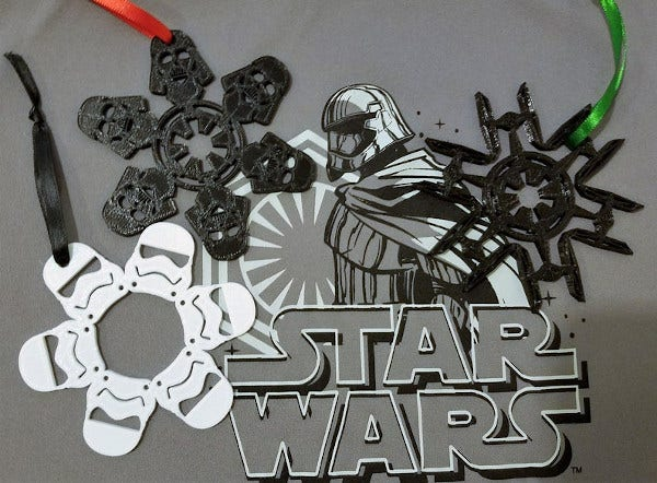 star wars snowflake christmas ornament