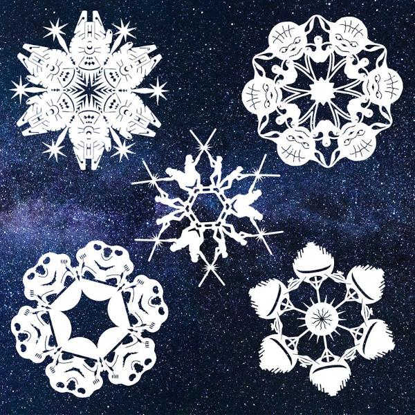 star wars snowflake pattern pack template