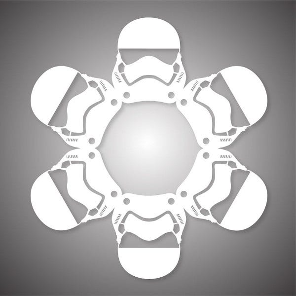 How To Make Star Wars Snowflakes With Paper 4