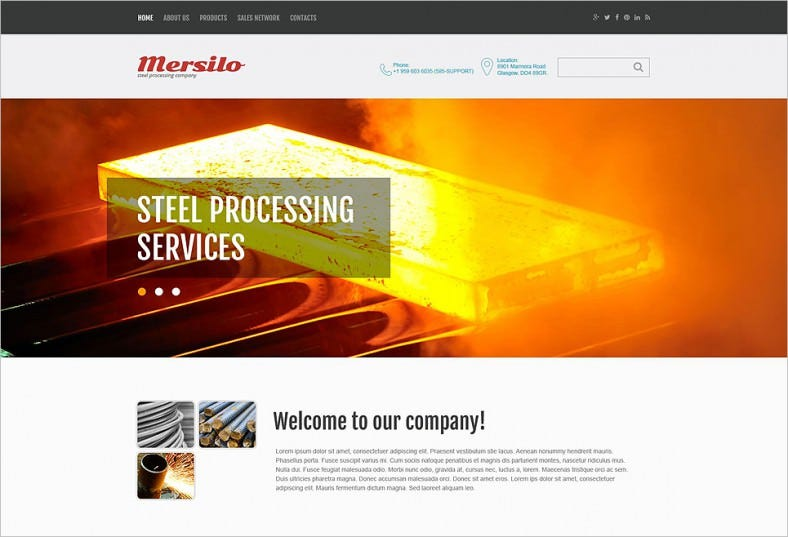 Steel Processing Industrial Website Template