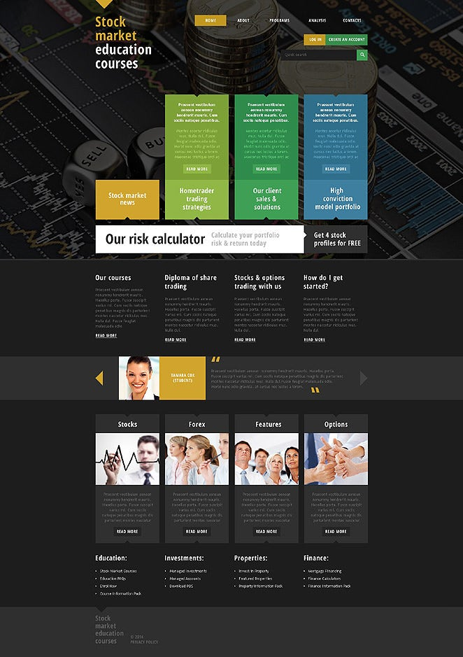 Stock Market Education Responsive Website Template