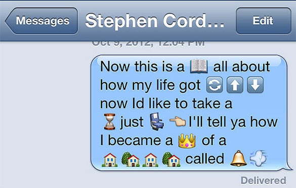 Funny messages using emoji