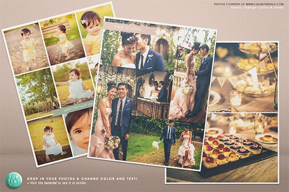 storyboard wedding album psd design 11
