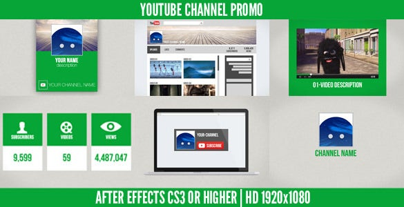 stunning after effects template for youtube