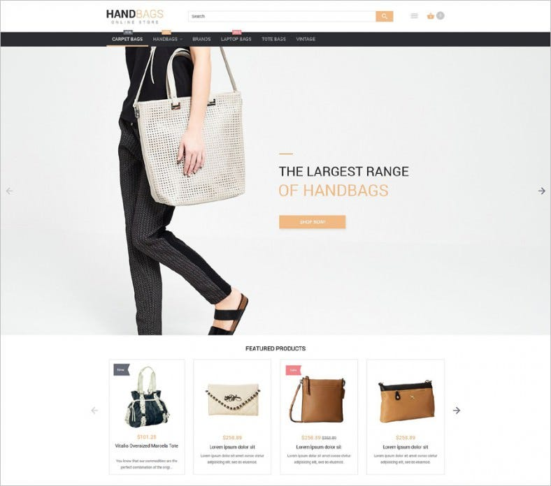 stylish bags boutique magento theme 788x696