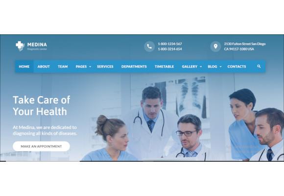 stylish medical equipment psd template