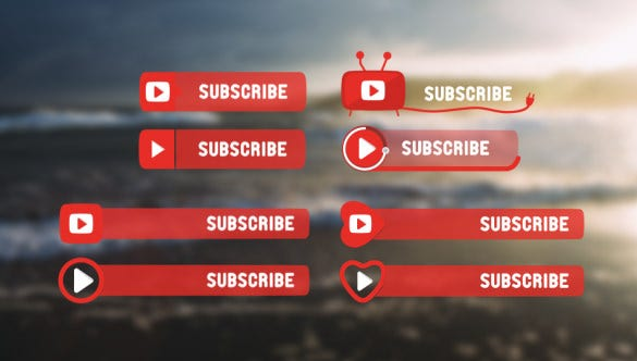 subscribe buttons after effects for youtube