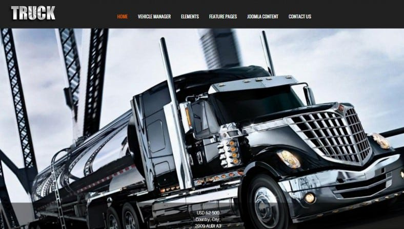 Suitable Joomla Template for Truck, Car, Transportation