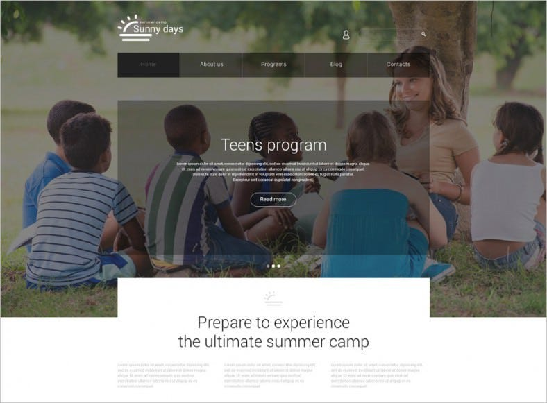 summer camp responsive joomla template 788x581