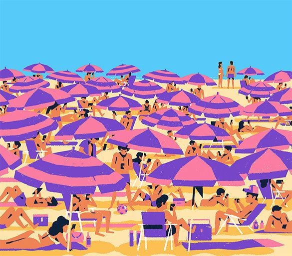 summer holidays starting illustration design