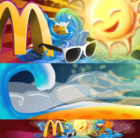 summer illustration artwork