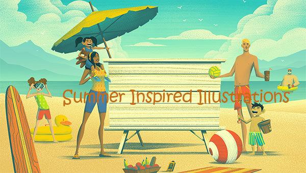summer inspired illustrations