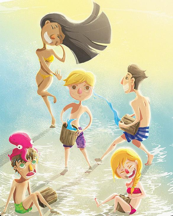 summer memories illustration