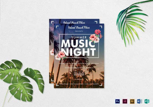 summer-music-night-flyer-template