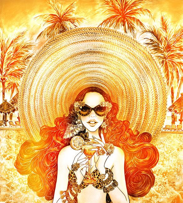 sunshine summer illustration design