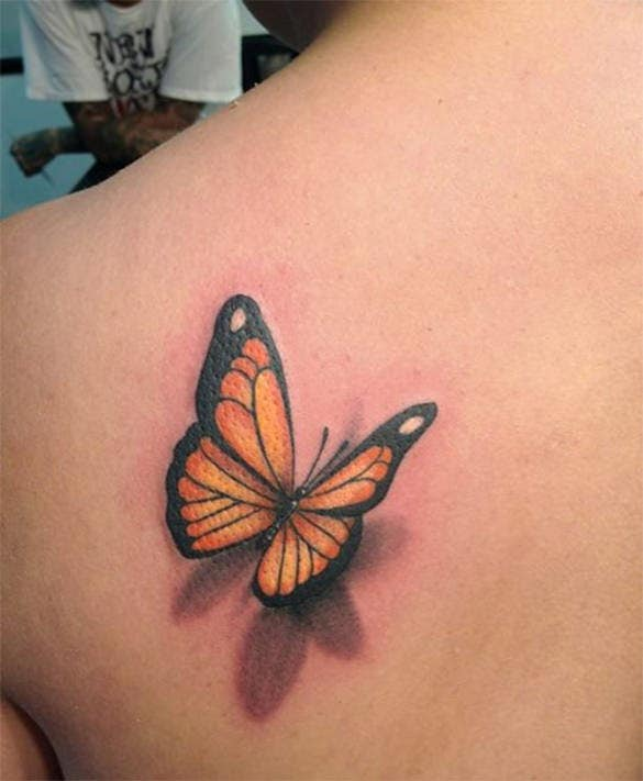 super 3d butterfly tattoo design