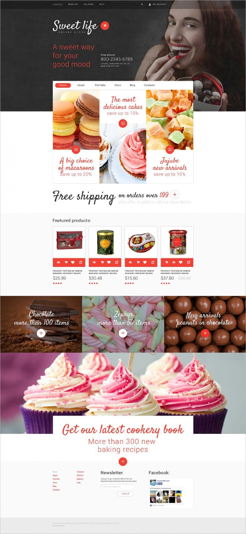 Sweets Online Store eCommerce Website Template