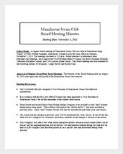 Swim-Club-Meeting-Minutes-Template