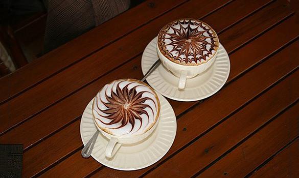 swirly coffee design