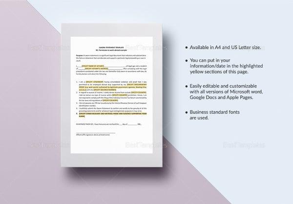sworn-statement-word-template
