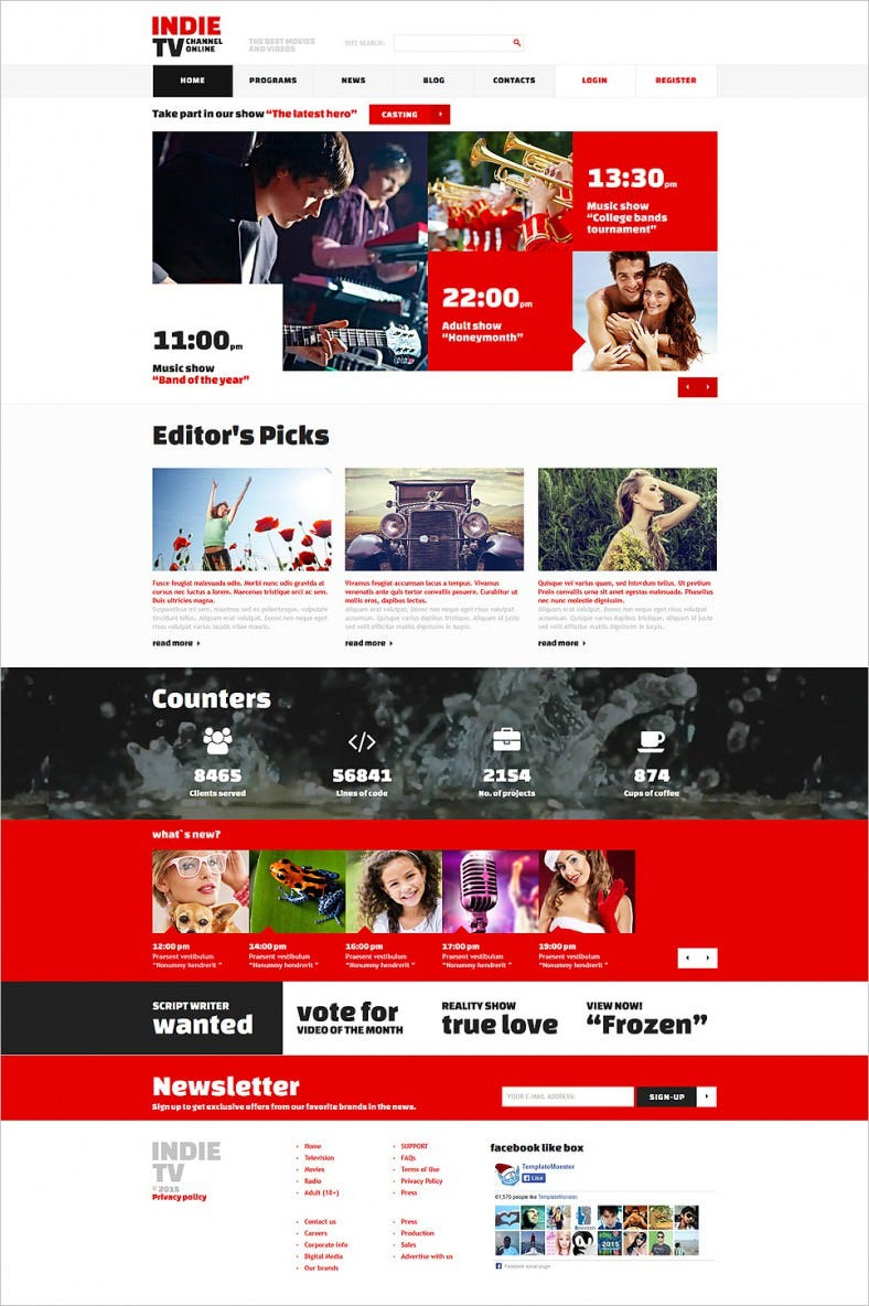 Tv Channel Joomla Website Templates Amp Themes Free