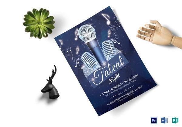 talent night flyer template