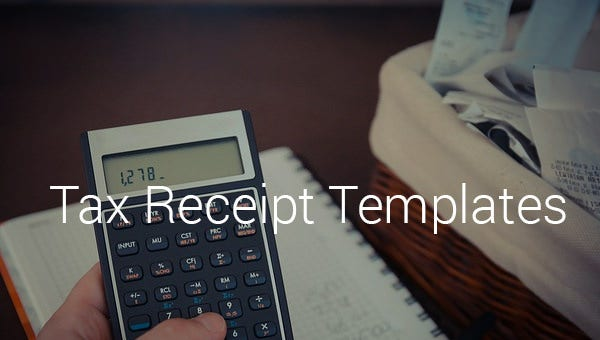 tax receipt templates