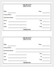 taxi receipt sample template free