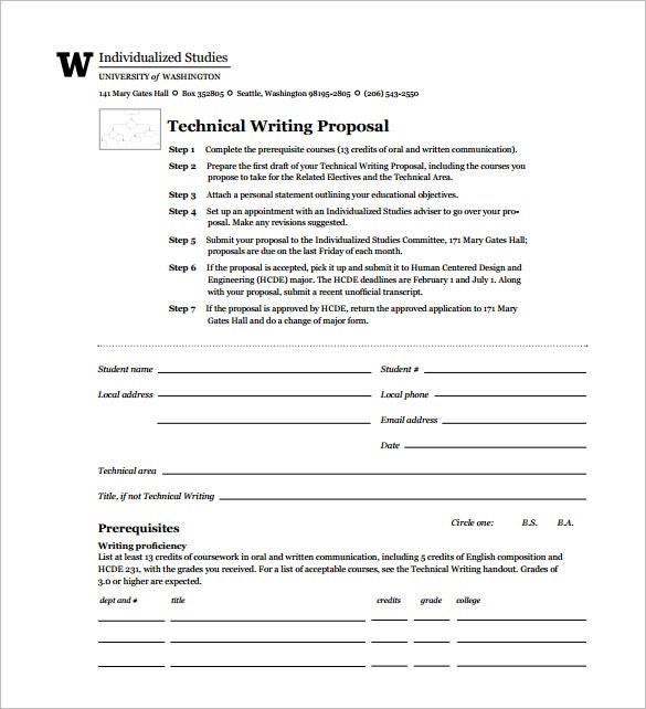 Technical Proposal Template   Free Sample Example Format