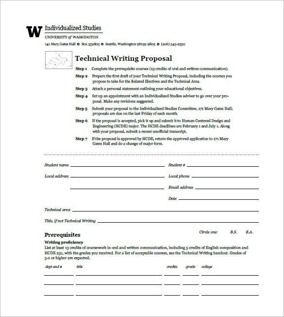 technical writing proposal pdf format