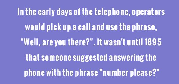 telephone operators random fact