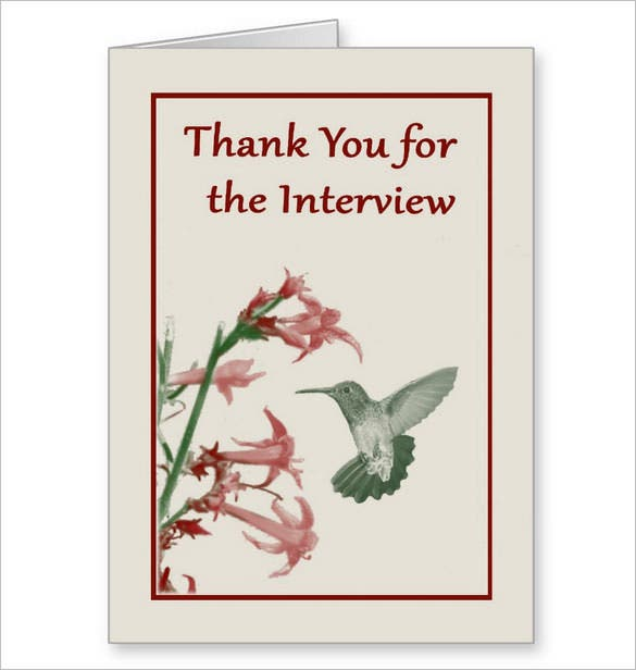 thank you card after theinterview