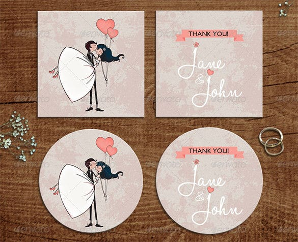 thank you card design with loveballoons