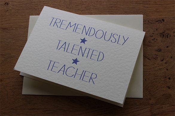 thank you card for teachers