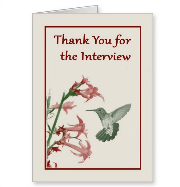 thank you for the interview card printable