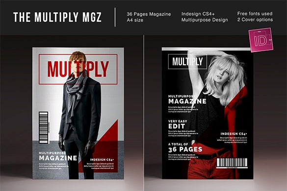 the multiply magazine layout ad