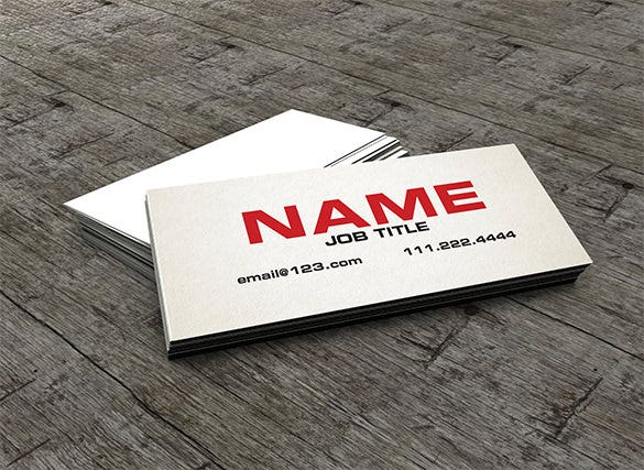 the slim calling card template download