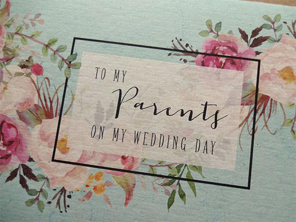 to parents wedding day card template