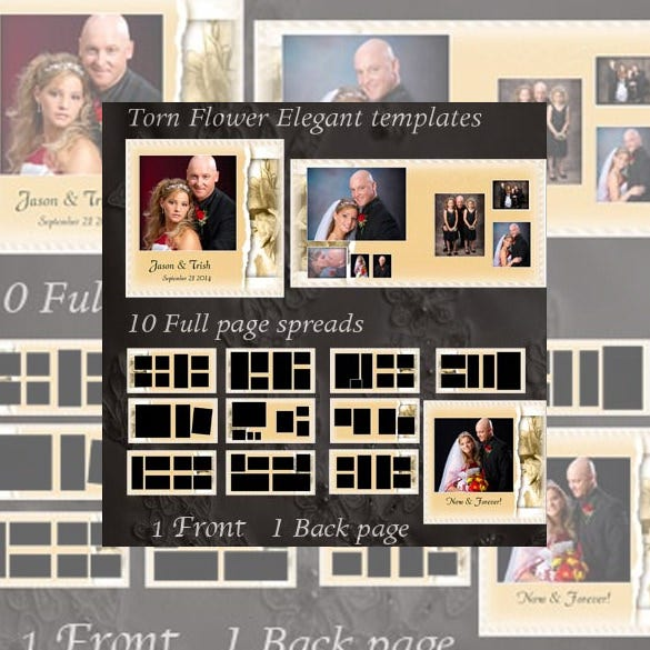torn flower wedding storyboard template