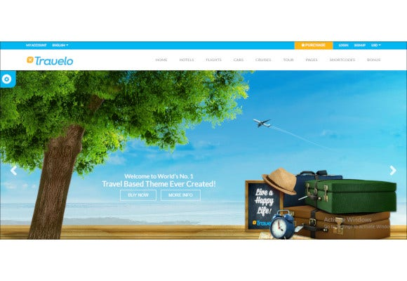 tour travel booking html5 template