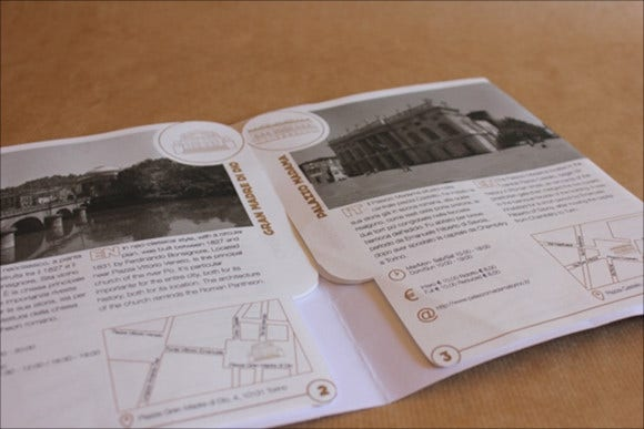 tourist travel brochure