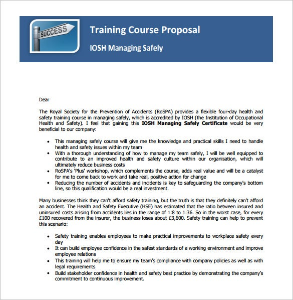 training course proposal example download