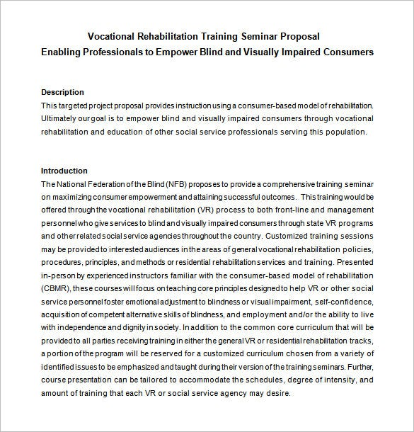training seminar proposal doc free download1