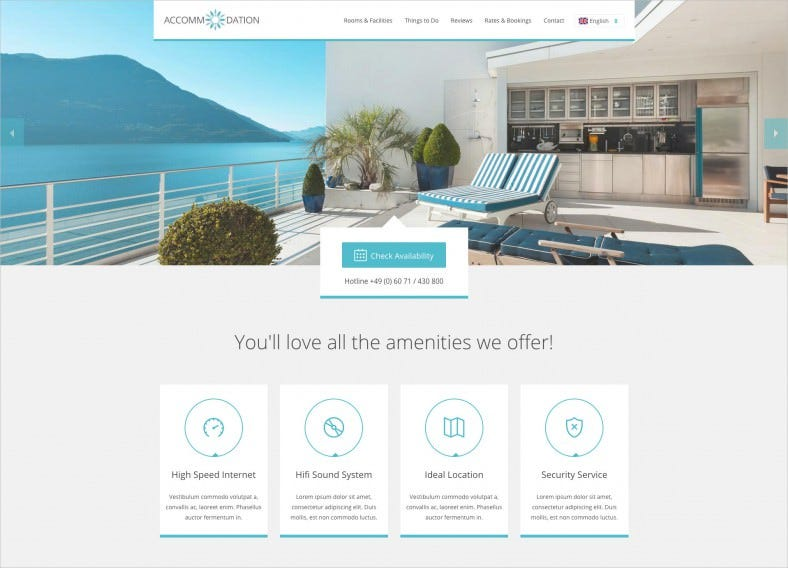 Travel & Accommodation Landing Page Template