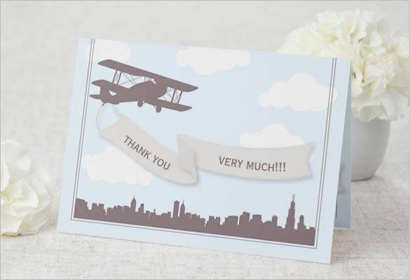 travel thank you very much card template