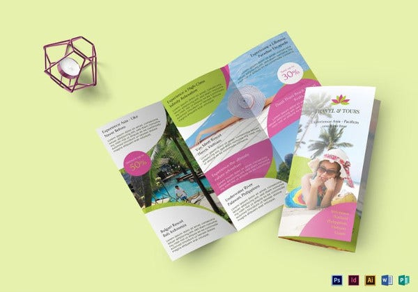 travel and tour brochure illustrator template