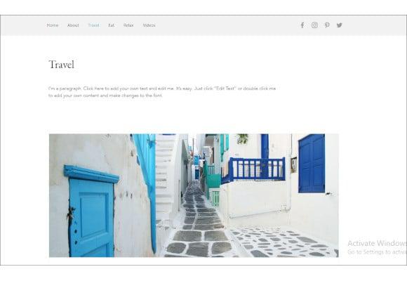 trendy blog website template