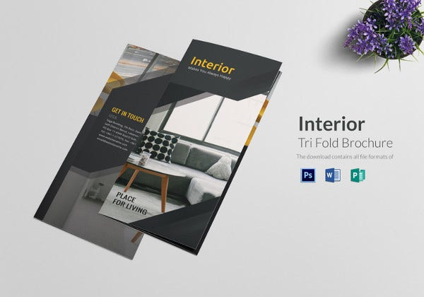 71 hd brochure templates free psd format download for Tri fold brochure word template