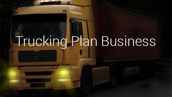 trucking plan business template