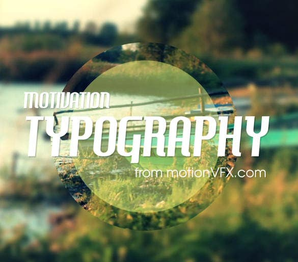 typography after effect template download
